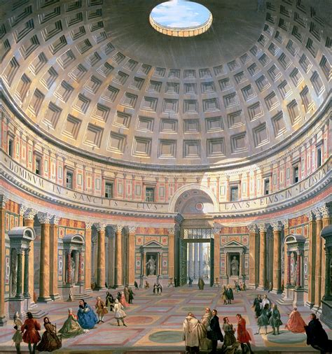 interno 5 roma interior of the pantheon painting by panini