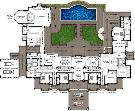 large house plans 3 bedroom house plans designs for africa house plans by