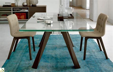 tavolo di vetro per soggiorno tavolo da soggiorno aron di bontempi arredo design