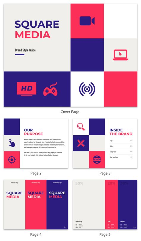 65 Brand Guidelines Templates Exles Tips For Consistent Branding Venngage Brand Guide Template