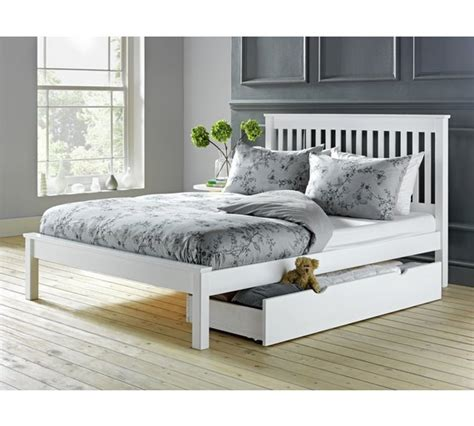 double bed buy collection aspley small double bed frame white at