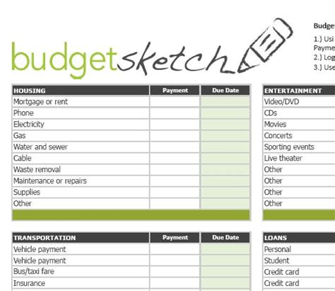 How To Make A Personal Budget Template Easy Household Budget Spreadsheet Onlyagame