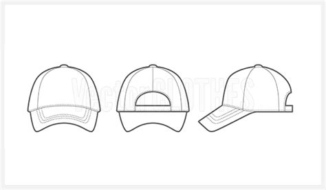 14 Baseball Hat Template Vector Images Baseball Cap Vector Template Baseball Cap Vector Cap Design Template