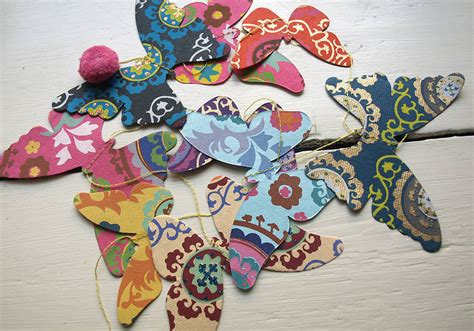 Handmade Butterfly Decorations - handmade paper butterfly garland by seagirl and magpie