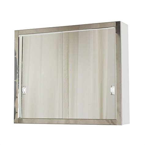 sliding door medicine cabinet economy 23 5 8 quot w x 19 3 8 quot h direct fit sliding door