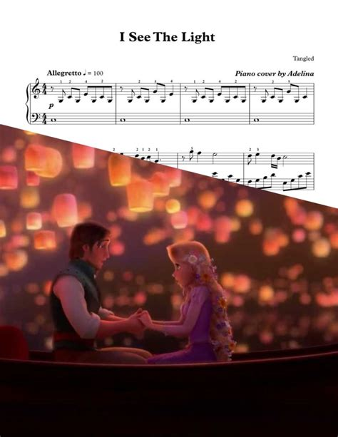 See The Light Tangled by Quot I See The Light Quot Disney Tangled Piano Sheet