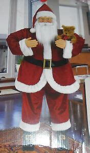 five foot santa claus 5 ft foot animated story telling singing santa claus figure new