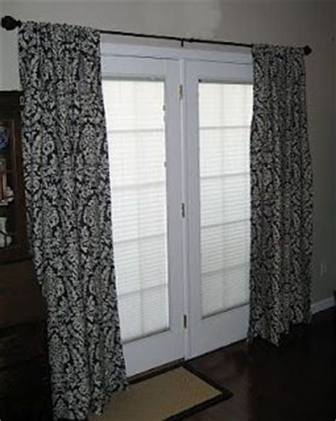 how to hang french door curtains hanging curtains on french doors projects pinterest