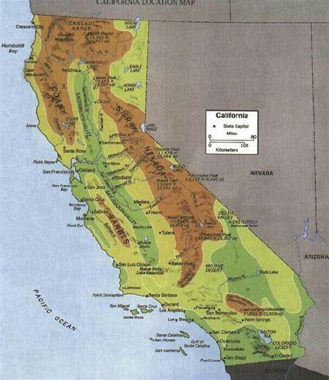 california mountain ranges map california mountain ranges gea