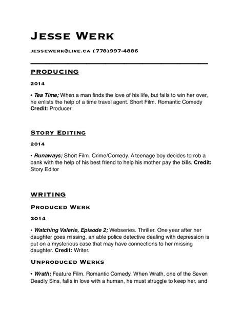 Writers Resume by Writers Resume