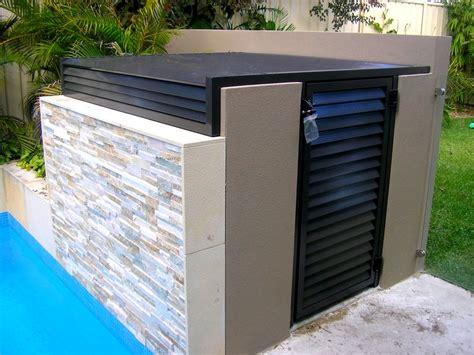 unique pool equipment enclosures ideas homesfeed