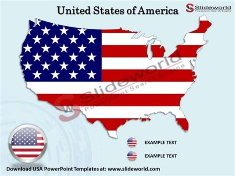 usa powerpoint templates slide world