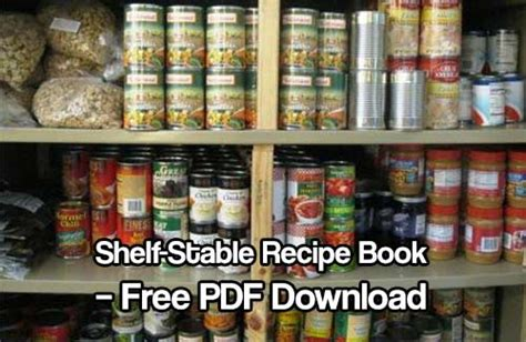 Shelf Stability by Shelf Stable Recipe Book Free Pdf Shtf
