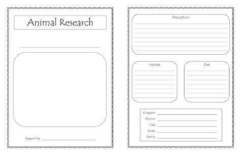 free printable animal report animal research for template 28 images template jpg
