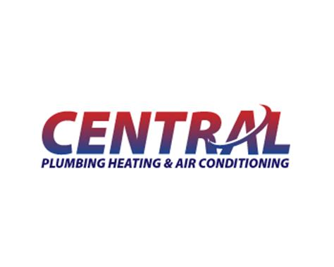 Central Plumbing Heating by Central Plumbing Heating Air Conditioning Logo Design