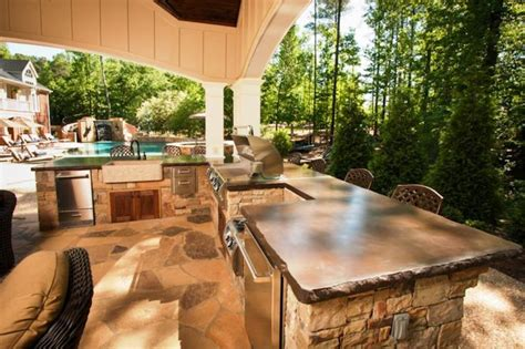 inexpensive outdoor kitchen ideas 17 best images about landscaping back deck on pinterest