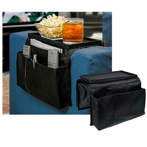Tv Remote Holder For Sofa by Sofa Arm Rest Organizer 5 Pocket Caddy Tray Remote