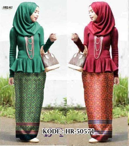 Baju Atasan Bahan Spandek bahan atasan peplum spandek korea rok motif batik