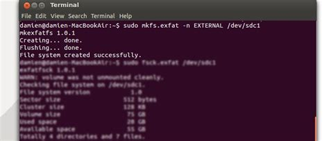 format fs exfat quick how to format external hard disk to exfat filesystem in ubuntu
