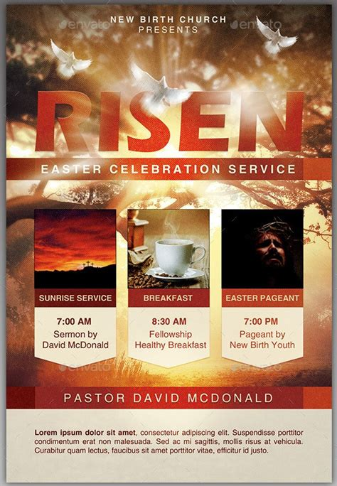 26 Magnificent Easter Flyer Templates Inspiks Market Free Church Flyer Templates