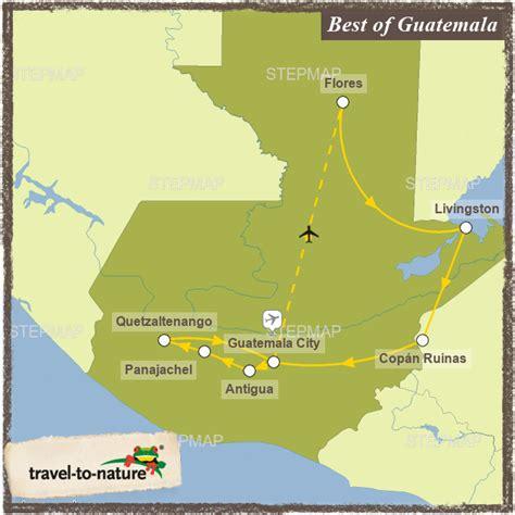 best of guatemala best of guatemala travel to nature landkarte f 252 r