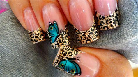 imagenes uñas acrilicas animal print u 241 as decoradas mariposas animal print animal print