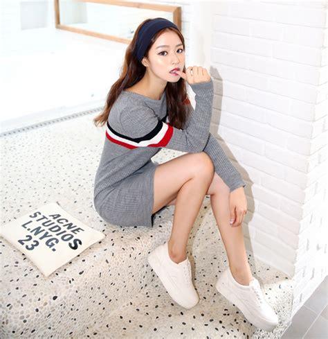 Korean Jaket Leather Brown Style 31 korean style grey beige tennis knit sweater