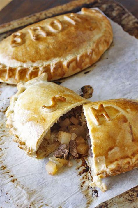 Handmade Cornish Pasties - potato pastries and stems on