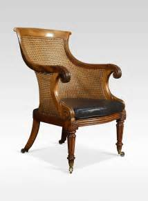regency mahogany bergere armchair antiques atlas