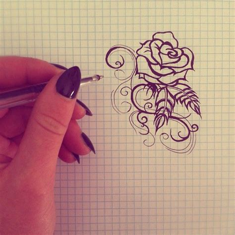 simple rose tattoo designs simple design by kaylielou deviantart on