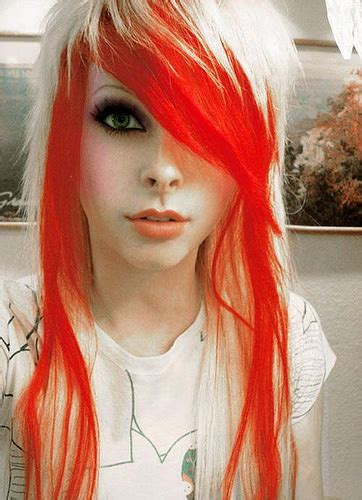 emo hairstyles and colors emolutions emo hair color