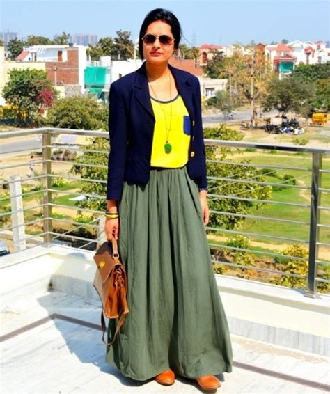 of the day maxi skirt with brown oxfords