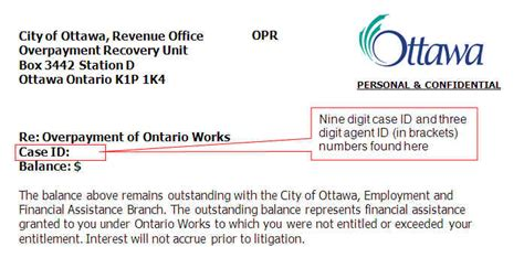 Rent Overpayment Letter Make A Payment To The City City Of Ottawa