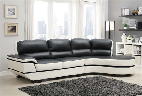 homelegance hanlon sectional sofa chocolate white all