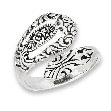 sterling silver spoon ring with