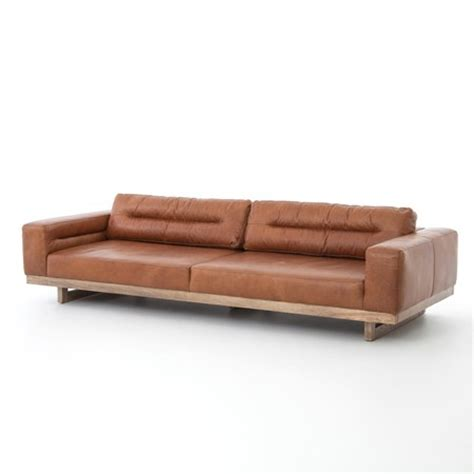 low furniture froster contemporary leather low back sofa zin home