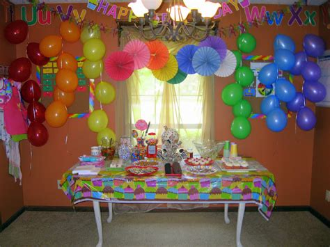 Decorating Ideas For Birthday At Home by Birthday Decorations At Home Marceladick