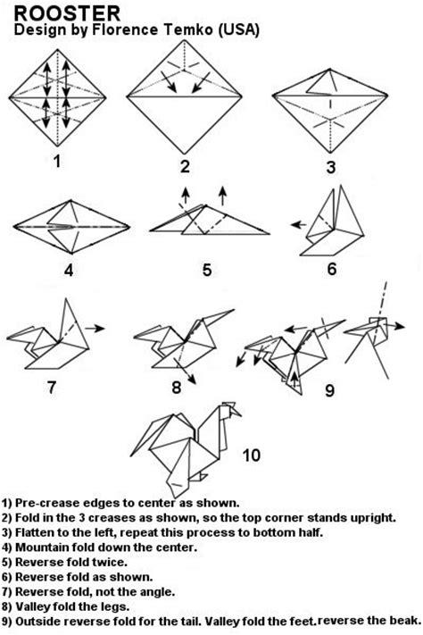 rooster diagram phallmaster origami