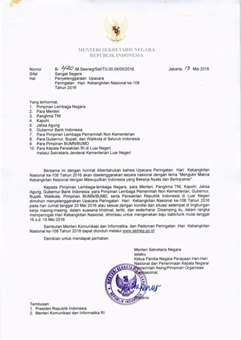 surat edaran mensesneg upacara harkitnas 2016