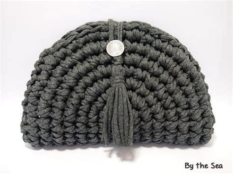 t shirt yarn clutch pattern t shirt yarn crochet clutch bag black mix by bytheseajewel