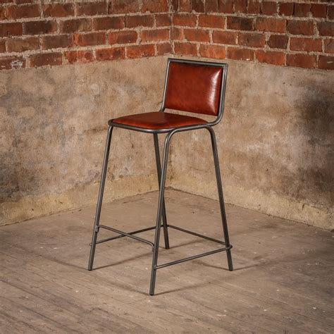 Leather Bar Stool Chairs by Vintage Brown Leather Bar Stools Home Ideas Collection