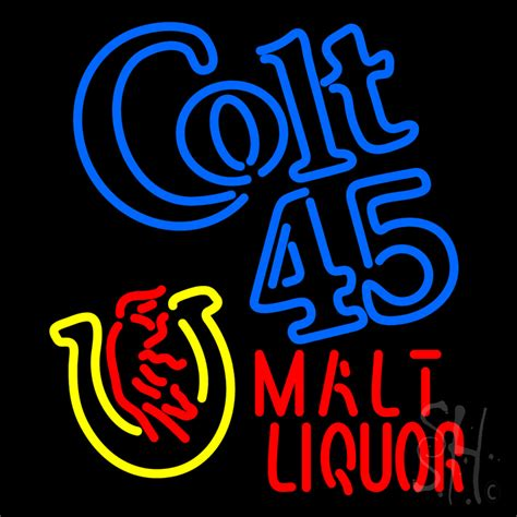 liquor signs colt 45 malt liquor neon sign liquor neon signs every