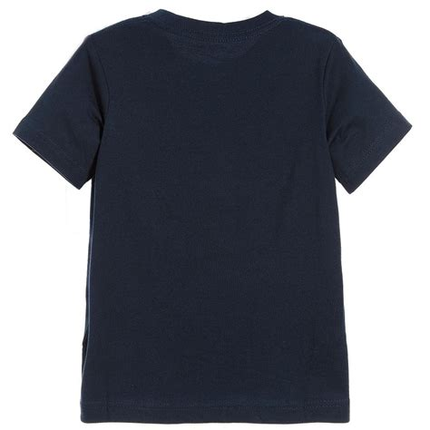 T Shirt 6 0 Nike Blue nike boys blue logo t shirt petit outlet