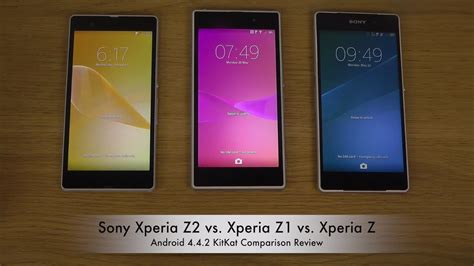 Hp Sony Xperia Z Z1 Z2 Sony Xperia Z2 Vs Xperia Z1 Vs Xperia Z Android 4 4 2 Kitkat Comparison Review