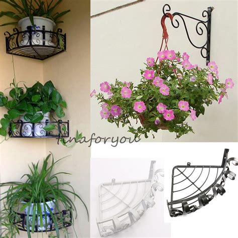 Display Stand With Hooks by Iron Garden Wall Light Hanging Flower Plant Pot Bracket
