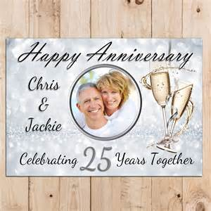 personalised 25th silver wedding anniversary party photo
