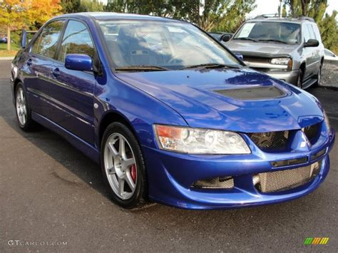 blue mitsubishi lancer 2005 electric blue metallic mitsubishi lancer evolution