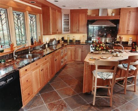 granite countertop with slate flooring decobizz