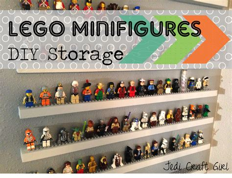 lego figure tutorial diy lego minifigure storage shelves tutorial