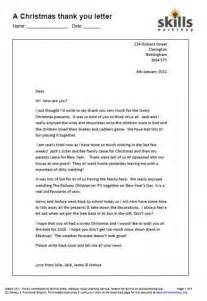 a thank you letter functional skills